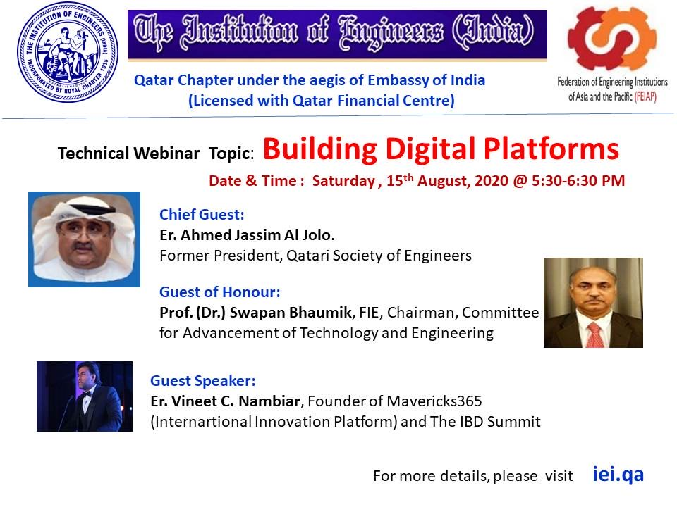Technical Webinar on the topic - Building Digital Platforms